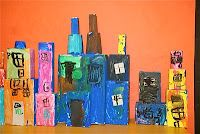 Itty Bitty City from discarded boxes