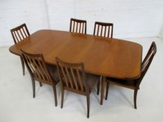 Stylish Vintage Mid Century Retro G Plan Dining Table And Six Chairs