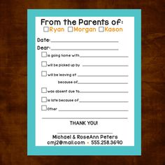 School Notepad Excuse Pad for School Notes for by ChevronSmiles, $16.95