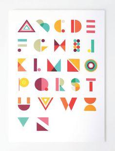 Geometric Typeface - Jaclyn Whalen Design | Fun and Fancy ...