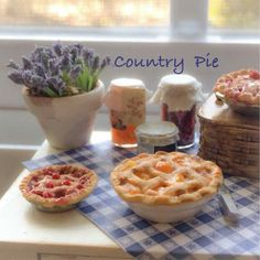 "Mini Country Pie ideas ~ ""Hattie's DollHouse Fun ~"