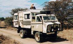 Land Rover and Caravan Adventure Camper