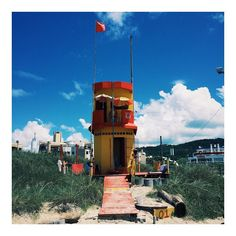 I'll be posting images from #florianopolis #brazil over the next few days.  Here is the lifeguard tower on #ingleses #beach which is full of life.  #picoftheday #color #travel by patrickfraserstudio