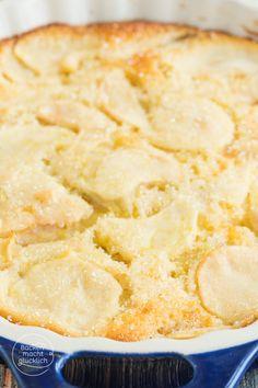 Rezept für klassischen italienischen Apfelkuchen (Torta di mele) mit Apfelscheiben im Rührteig | http://www.backenmachtgluecklich.de