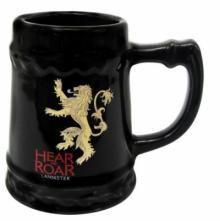 Game of Thrones Ceramic Stein Lannister Mug - Black