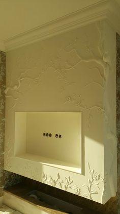 Фотография Decorative Plaster, Plaster Art, Plaster Walls, 3d Wall Art, Mural Art, Wall Murals, Deco Tv, Brick Cladding, Stencil Painting
