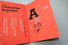 Archer // Type Specimen Booklet on Behance Anatomy Of Typography, Typography Layout, Typography Poster, Graphic Design Typography, Lettering, Leaflet Design, Booklet Design, Type Anatomy, Editorial Design