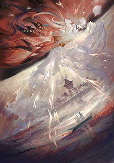 Art And Illustration, Fantasy Kunst, Fantasy Art, Anime Art Girl, Manga Art, China Art, Concept Art, Images, Character Design