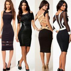 6e971e3d582 Sexy Women Club Wear Cut Out Long Sleeve Bodycon Bandage Evening Party  Dress Clubwear For Women