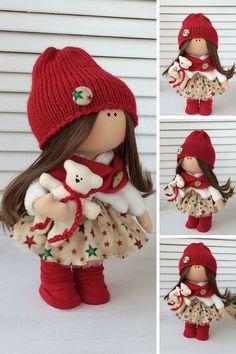 Rag doll Fabric doll Textile doll Muñecas by AnnKirillartPlace