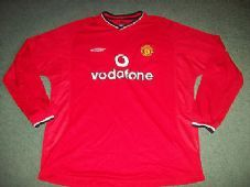 0ccc7ef57bf 2000 2002 Manchester United L s New wo tags Home Football Shirt Man Utd Long