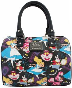 Loungefly Disney Alice in Wonderland Print Duffle