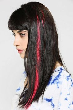 Manic Panic Glam Strip Blacklight Hair Extension  http://www.hairpop.net/products/checker-hair-feather