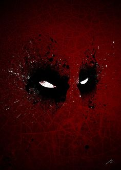 This image has the main feature of the character, it is recognisable (if you're a fan of Deadpool). Its dark colours make the white in his eyes stand out and it is also simple with not too much going on, there isn't so much on the piece.   This is something similar to my idea for my poster.   http://www.redbubble.com/people/arian-noveir/works/10679923-paint-splatter-villaines-deadpool?p=poster   - Paint Splatter Villaines : Deadpool