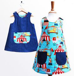Circus Print Reversible Dress - dresses & skirts
