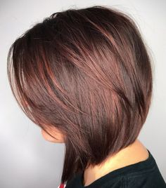 Angled And Layered Shoulder Length Bob