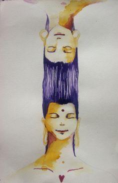 AR - Minha existência é eterna neste mundo. 30 x 16 cm - Aquarela sobre papel  2013
