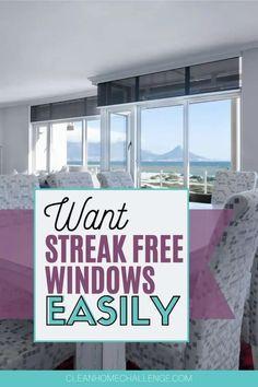 Want Streak Free Windows: Use Vinegar To Clean Them Cleaning Outside Windows, Window Cleaning Tools, Bathroom Cleaning Hacks, Cleaning Spray, Diy Cleaning Products, Cleaning Tips, Bedroom Cleaning, Diy Bedroom, Diy Cleaners