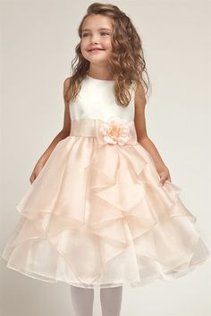 peach toddler flower girl dresses | Availability: Usually Ships in 3 to 5 Business Days.