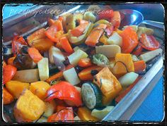 Vegetables baked with fresh herbs and garlic