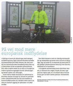 Omtale i CYKLISTER (medlemsbladet for Cyklistforbundet) af mit kandidatur til bestyrelsen i European Cyclist' Federation.