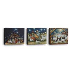 Nativity Scenes Canvas Wall Art, Set of 3  -