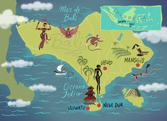 Maps to different tours and destinations. A comission from the travel agency Selections (BR).
