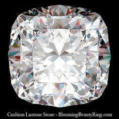 1.50 ct. Cushion Cut Lustour Stone | Unique Engagement Rings for Women by Blooming Beauty Jewelry