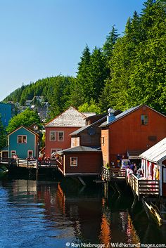 Creek Street, Ketchikan, AK.  lovely little town and unique area with buildings/shops built up along the creek.