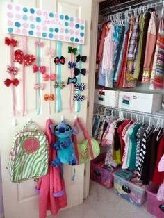 Give hair clips a pretty place to live, which just might inspire your child to put them away. | 40 Smart Tricks To Keep Your Kids Organized