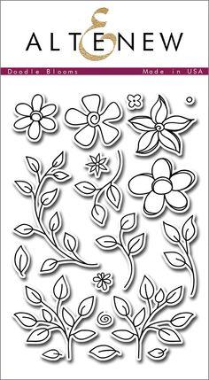 Altenew - DOODLE BLOOMS - Clear Stamps - Hallmark Scrapbook