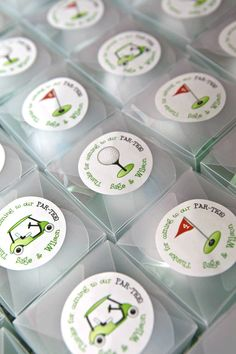 Navy Golf Party by Chickabug www.me navy_golf_theme Give your sweet little golfer a special PAR TEE! : ) This golf theme is great for adult parties, too. Your personalized stickers will be printed on a high quality glossy label stock. The stickers Personalized Stickers, Custom Stickers, Golf Centerpieces, Centerpiece Ideas, Golf Party Favors, Golf Party Decorations, Retirement Decorations, Golf Theme, Golf Gifts