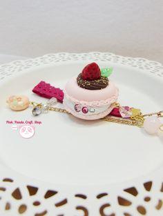 Sweet chocolate strawberry lightweight paper by pinkpandacraftshop