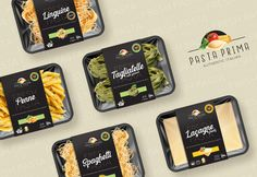Packaging Design for Home-Made Fresh Pasta - World Brand Design Salad Packaging, Takeaway Packaging, Vegetable Packaging, Food Packaging Design, Packaging Design Inspiration, Branding Design, Food Design, E Design, Pasta Brands
