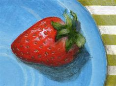 """Daily Paintworks - """"New Berry"""" - Original Fine Art for Sale - © Debbie Shirley"""