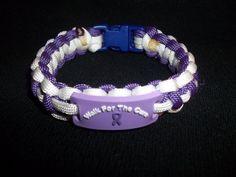 Alzheimer Walk for the Cure Paracord Bracelet