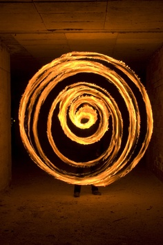 """One of my fire drawings.""""spiral"""" Photography by: Fire Spiral.by Quasar Story Inspiration, Character Inspiration, Light Painting Photography, Fire Dancer, Fire Art, Red Queen, Dark Skies, Fire And Ice, The Last Airbender"""