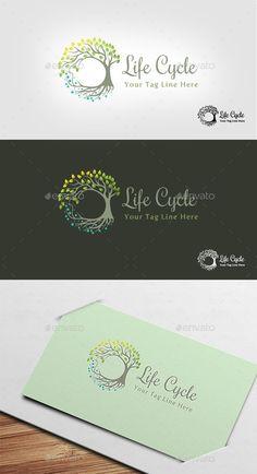 Life Cycle Logo - Nature Logo Templates