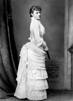 """c. 1878 this is writer Edith Wharton author of """"the age of innocence"""" and she was very good friends with writer/author Henry James of """"the turn of the screw """"fame and many other novels."""