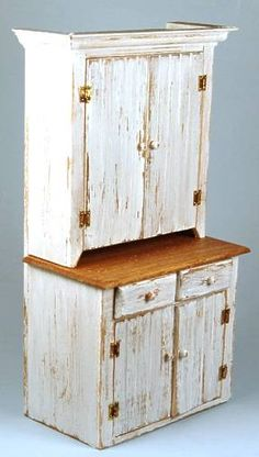 Grandma's+cupboard+-distressed+white+-+$78.00+:+S+P+MINIATURES+-+hand+crafted+dollhouse+miniatures+and+scale+miniatures+,+S+P+MINIATURES+-+shop+online+for+hand+crafted+dollhouse+miniatures+from+many+artisans+and+countries