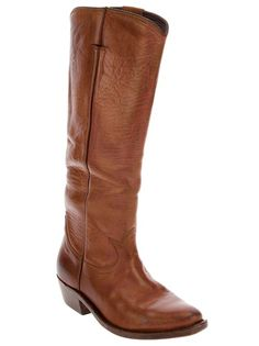 Golden Goose Deluxe Brand Calf Leather Cowboy Boot