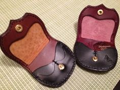 coin and guitar pick case - 88's Leather