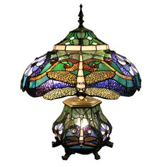 Warehouse of Tiffany K16991 3 Light Style DoubleLight Dragonfly Table Lamp - Lighting Universe