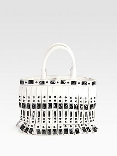 fec5206b1a45 This Prada double handle bag gives flapper fringe a whole new meaning