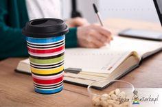 Porcelanowy kubek Studio z pokrywką Cafe