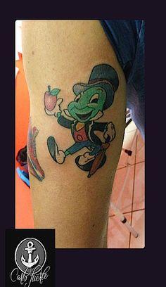 Jiminy Cricket tattoo #cartoon tattoo #tattoo idea