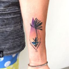 Palm trees in the wind @iristattooart