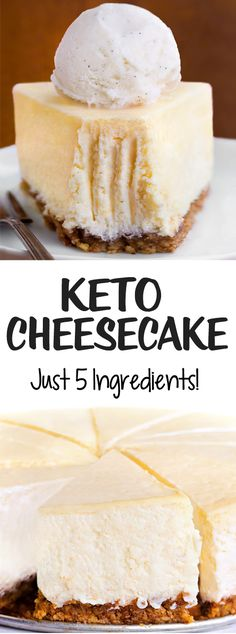 Keto Cheesecake – Just 5 Ingredients!