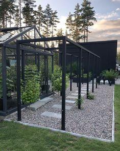 House Landscape, Landscape Design, Garden Design, Pergola, Contemporary Garden, Winter Garden, Black House, Castle, Home And Garden