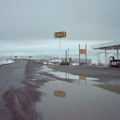 places, gas station, fuel, remote, ice, lonely